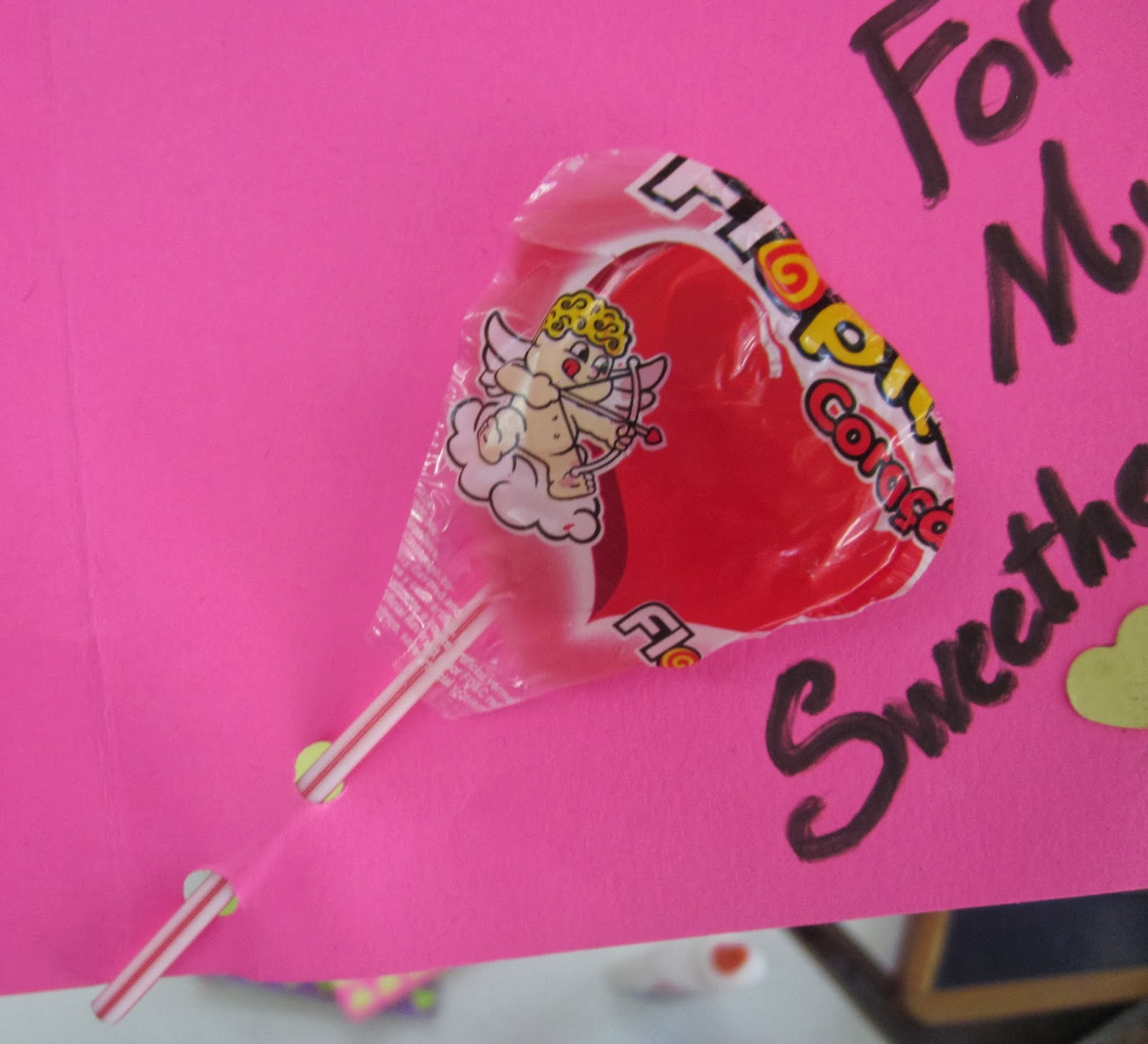 Valentine's Day Cards with sweetheart lollipop