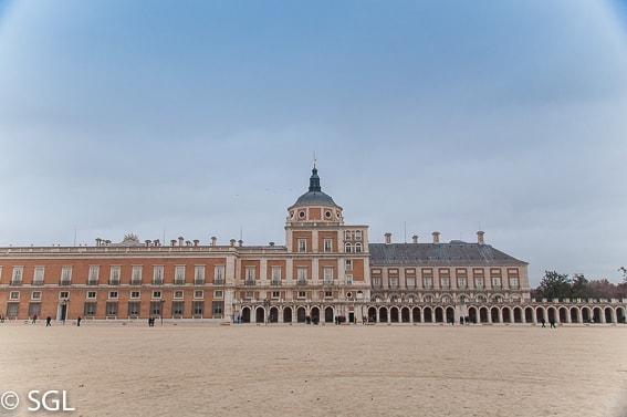 Panoramica del Palacio de Aranjuez. Madrid