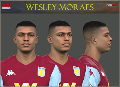 PES 2017 Faces Wesley Moraes by Mo Ha