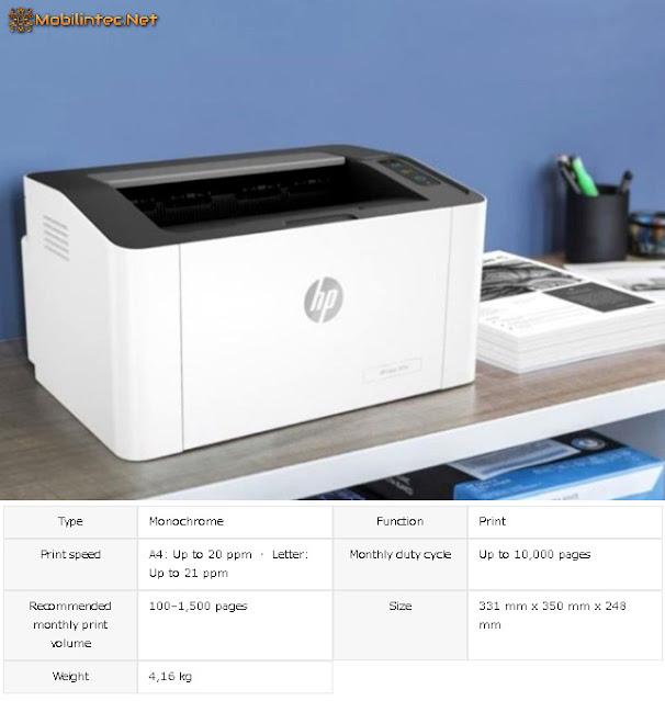 HP Laser 107a printer laser