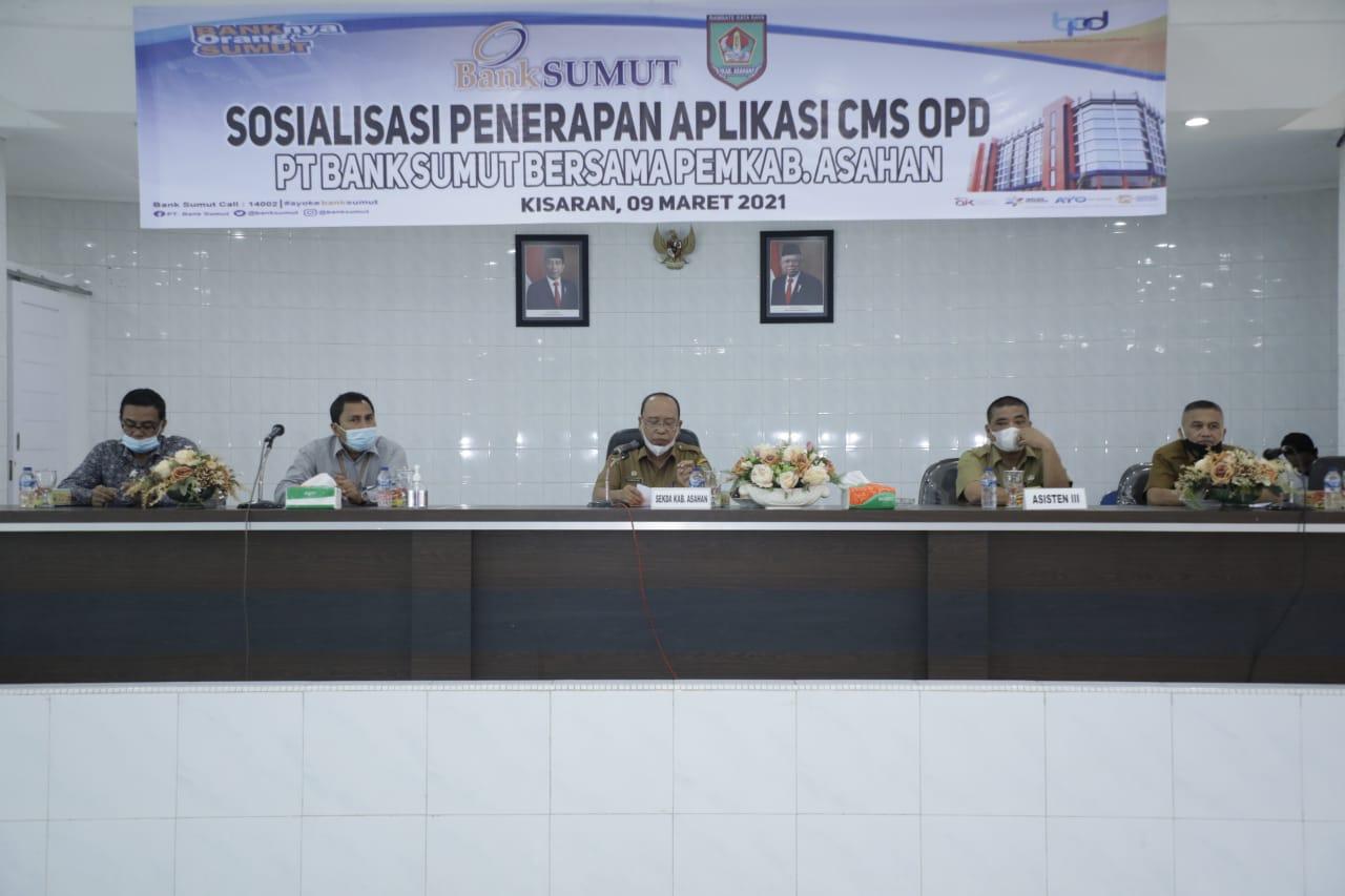 Pemkab Asahan Bersama PT Bank Sumut Sosialisasikan Penerapan Aplikasi CMS Kepada OPD