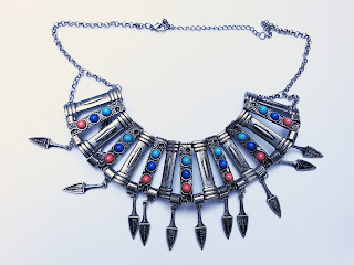 Egyptian silver necklace in a Bohemian style