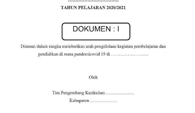 Draft Atau Contoh Kurikulum Darurat Covid-19 Tahun Pelajaran 2020/2021