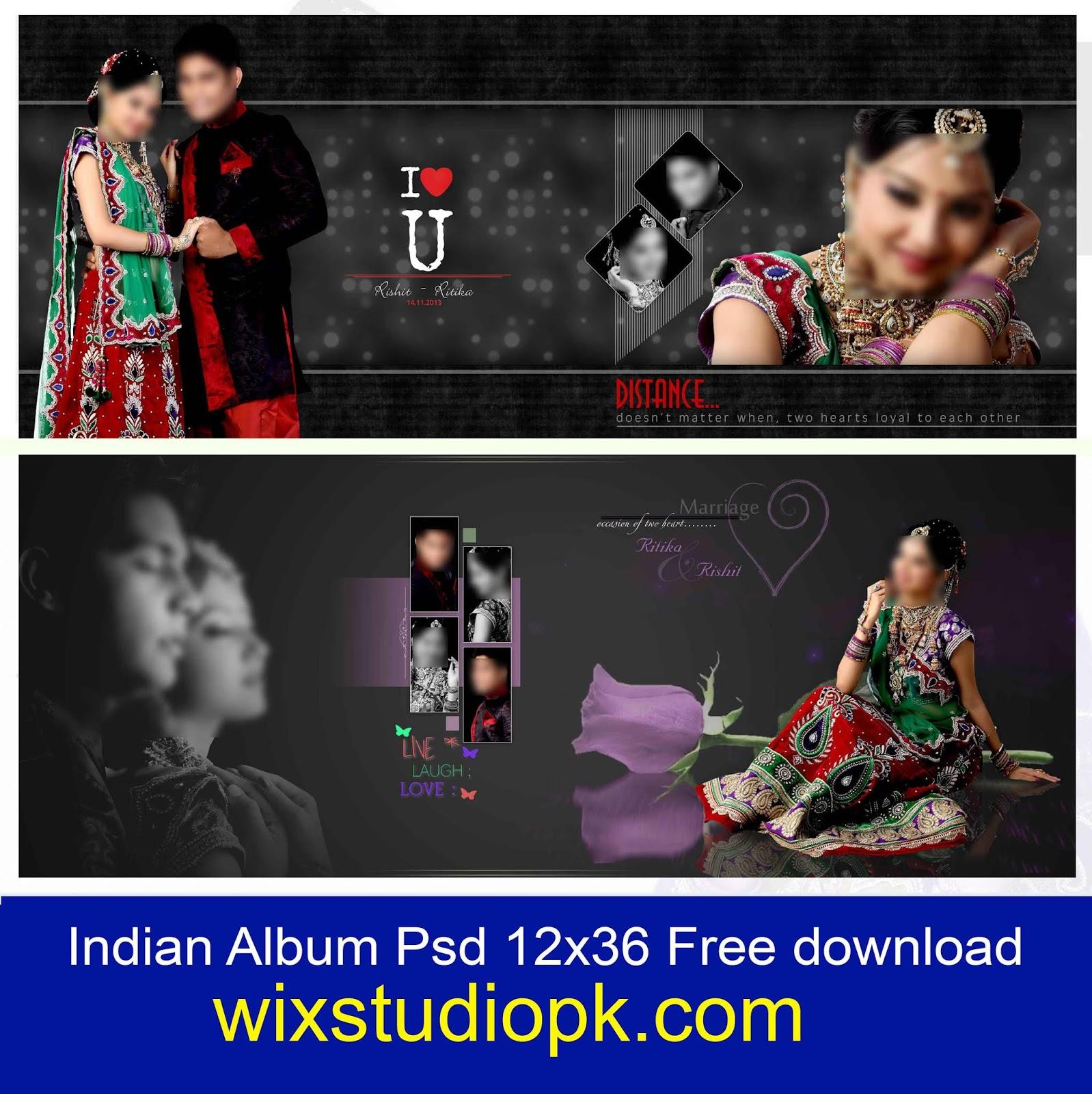 Indian Wedding Album Design 12x36 Psd Files Free Download Wix Studio Pk