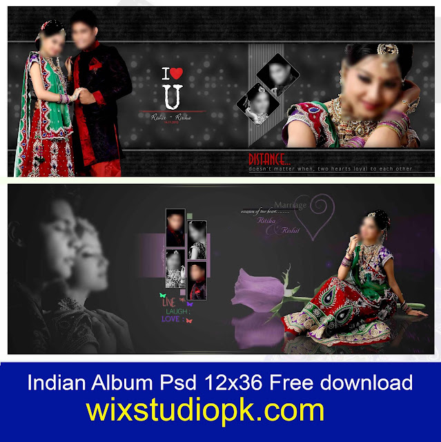 Indian Wedding Album Design 12x36 Psd Files Free Download