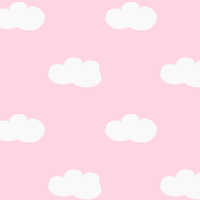 pink fluffy clouds Paper