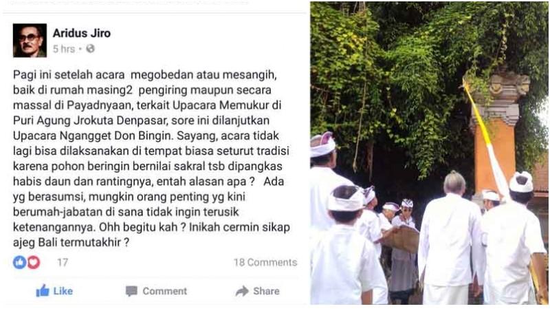 Status Aridus Jiro yang dilaporkan Gubernur Bali