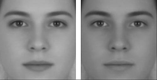 Farklı tonlarda erkek ve bayan olarak görünen aynı insan yüzü