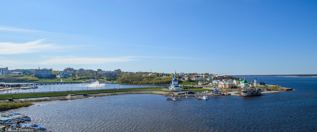 Панорама залива в Чебоксарах
