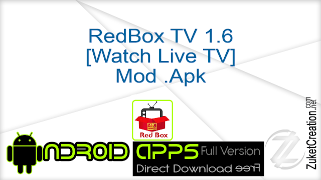 RedBox TV 1.6 [Watch Live TV] Mod .Apk
