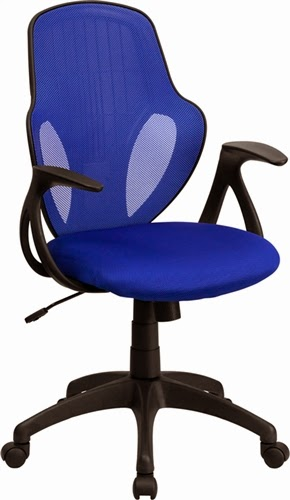 Flash Furniture Blue Mid Back Executive Chair