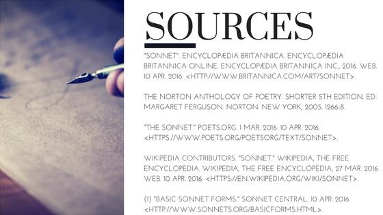 English Sonnet Sources