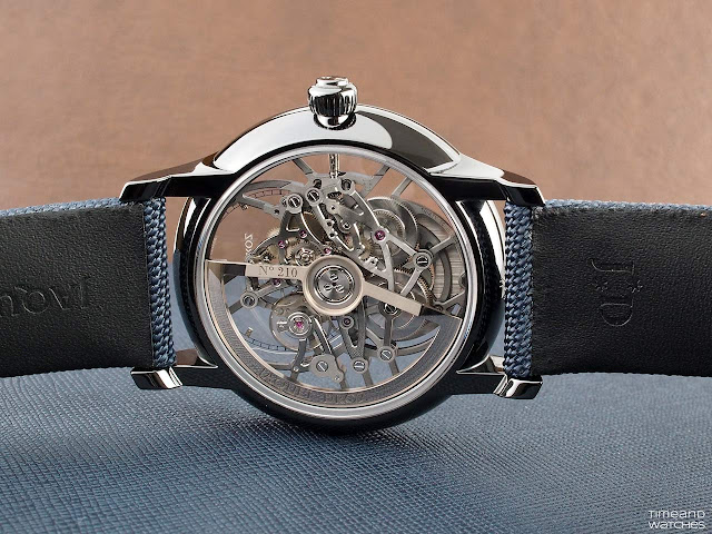 Jaquet Droz 2663 SQ automatic movement equipping the Grande Seconde Skelet-One Ceramic
