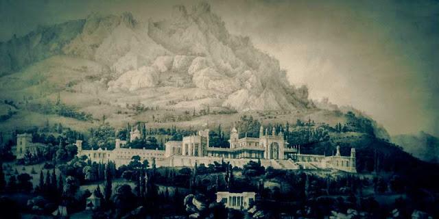 Алупка Воронцовский дворец. 1826 - 1846. Архитектор Э. Блор.