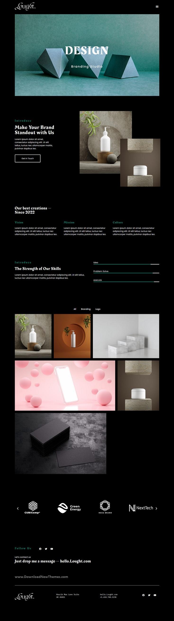 Minimal Portfolio Elementor Template kit