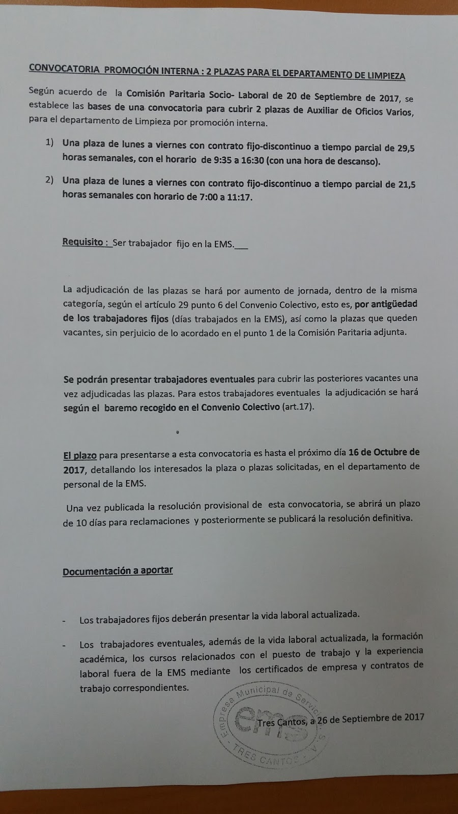 Rebelion en la granja convocatoria promoci n interna 2 for Convocatoria para plazas docentes 2017