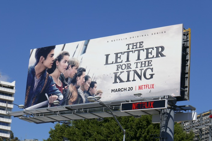 Letter for the King Netflix billboard