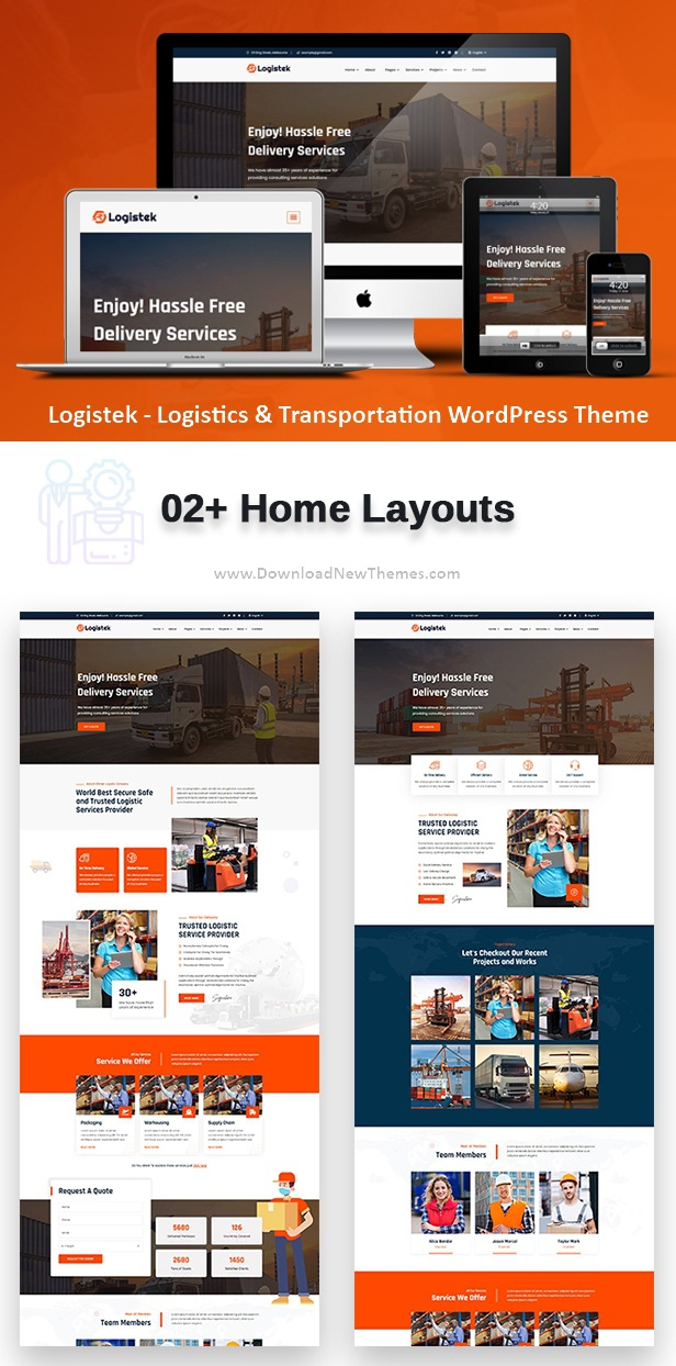 Logistics & Transportation WordPress Theme