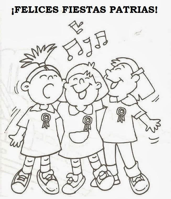 Fiestas Patrias Para Niños Perú Dibujos Para Niños