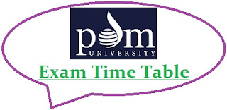 PDM University Exam Date Sheet 2020