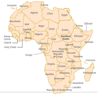 Political Map of Africa   Free Printable Maps
