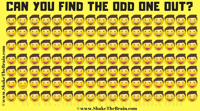In this Odd Emoji Out Picture Puzzle, your challenge is to find the Emoji which is different