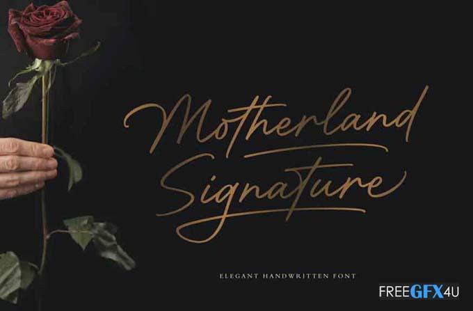 Motherland Signature Font