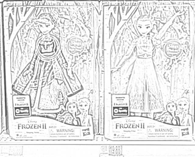 Coloring Pages: Disney Frozen 2 Singing Fashion Dolls with