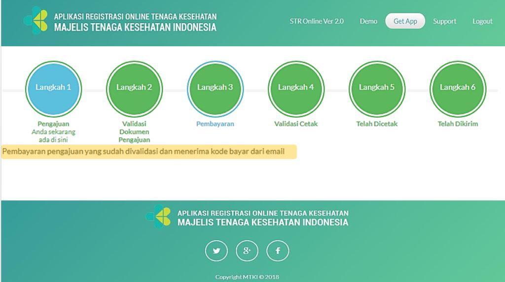 Validasi langkah-langkah yang telah dilakukan dalam pembuatan STR Tenaga Kesehatan Online