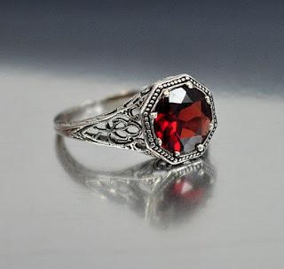 garnet promise rings