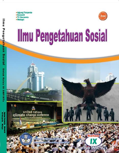 Download Buku Siswa KTSP SMP dan MTs Kelas 9 IPS Ilmu Pengetahuan Sosial.