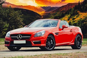 Red Mercedes Benz