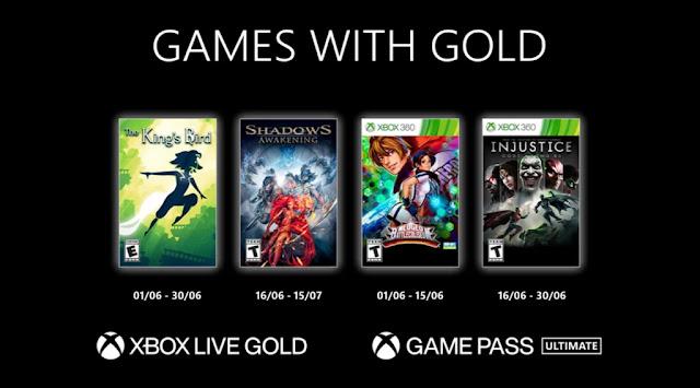 Xbox Live Gold : Les jeux de Juin 2021
