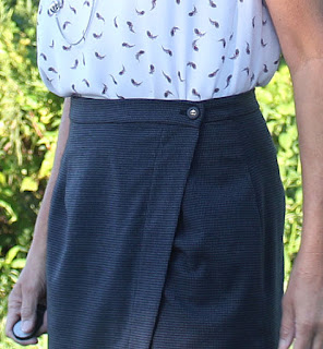 Indie Sew Fall skirt week - Nita Wrap skirt - waistband details