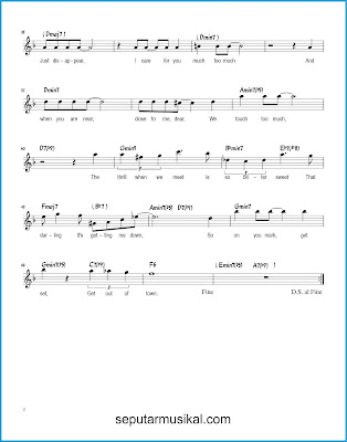 Get Out of Town 2 chords jazz standar