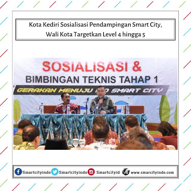 Kota Kediri Sosialisasi Pendampingan Smart City, Wali Kota Targetkan Level 4 hingga 5