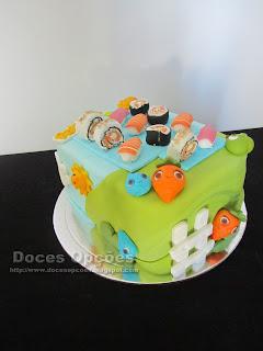 Sushi Farm Heroes cake
