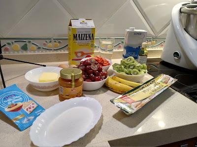 ingredientes para la tarta de frutas