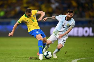 بث مباشر مباراة الارجنتين والبرازيل الان