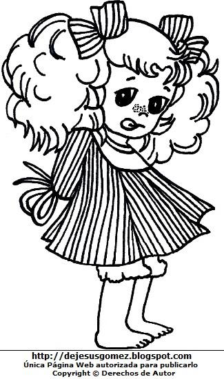 Imagen de Candy pequeña para colorear pintar imprimir. Dibujo de Candy de Jesus Gómez
