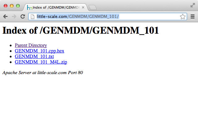 little-scale: How to: Update the GenMDM Firmware