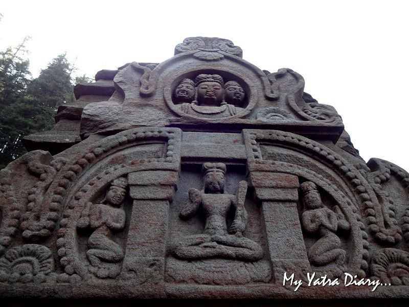Carved facade at Jageshwar Uttarakhand