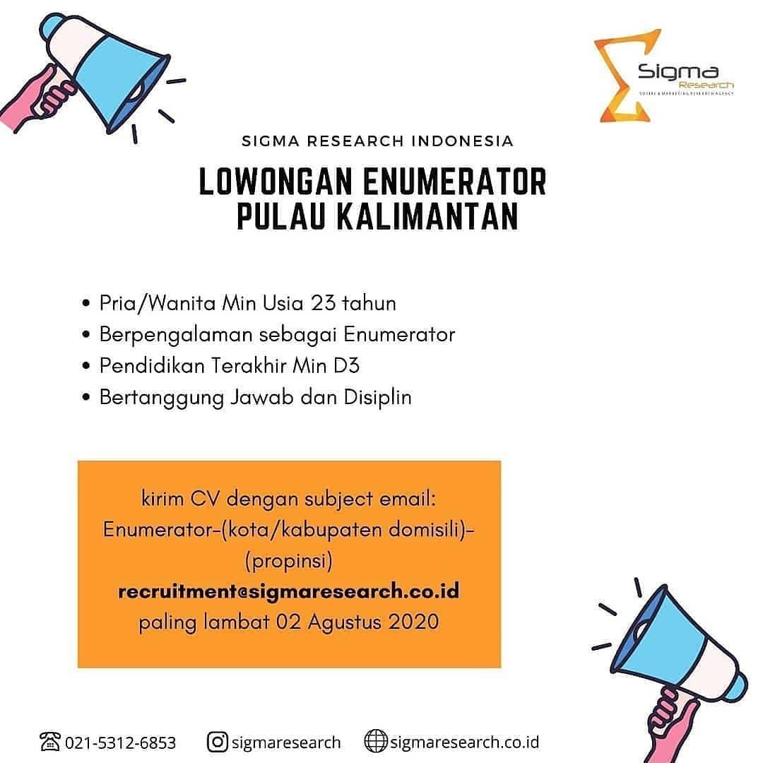 Lowongan Kerja Pt Sigma Research Indonesia Lowongan Kerja Kalimantan Tengah