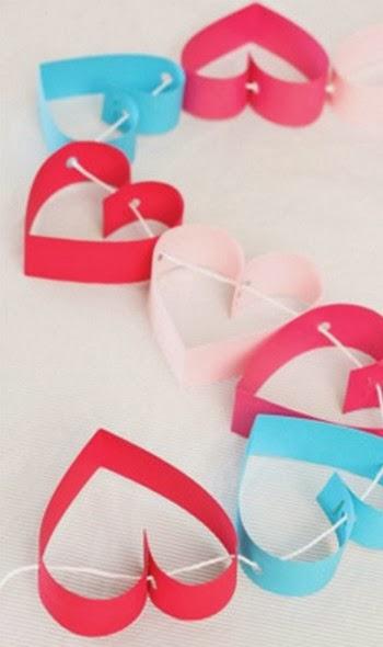 Guirnalda De Corazones Para San Valentin Manualidades Faciles