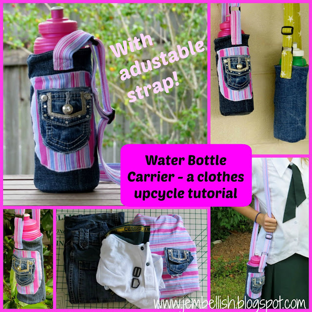 Water Bottle Carrier with adjustable strap
