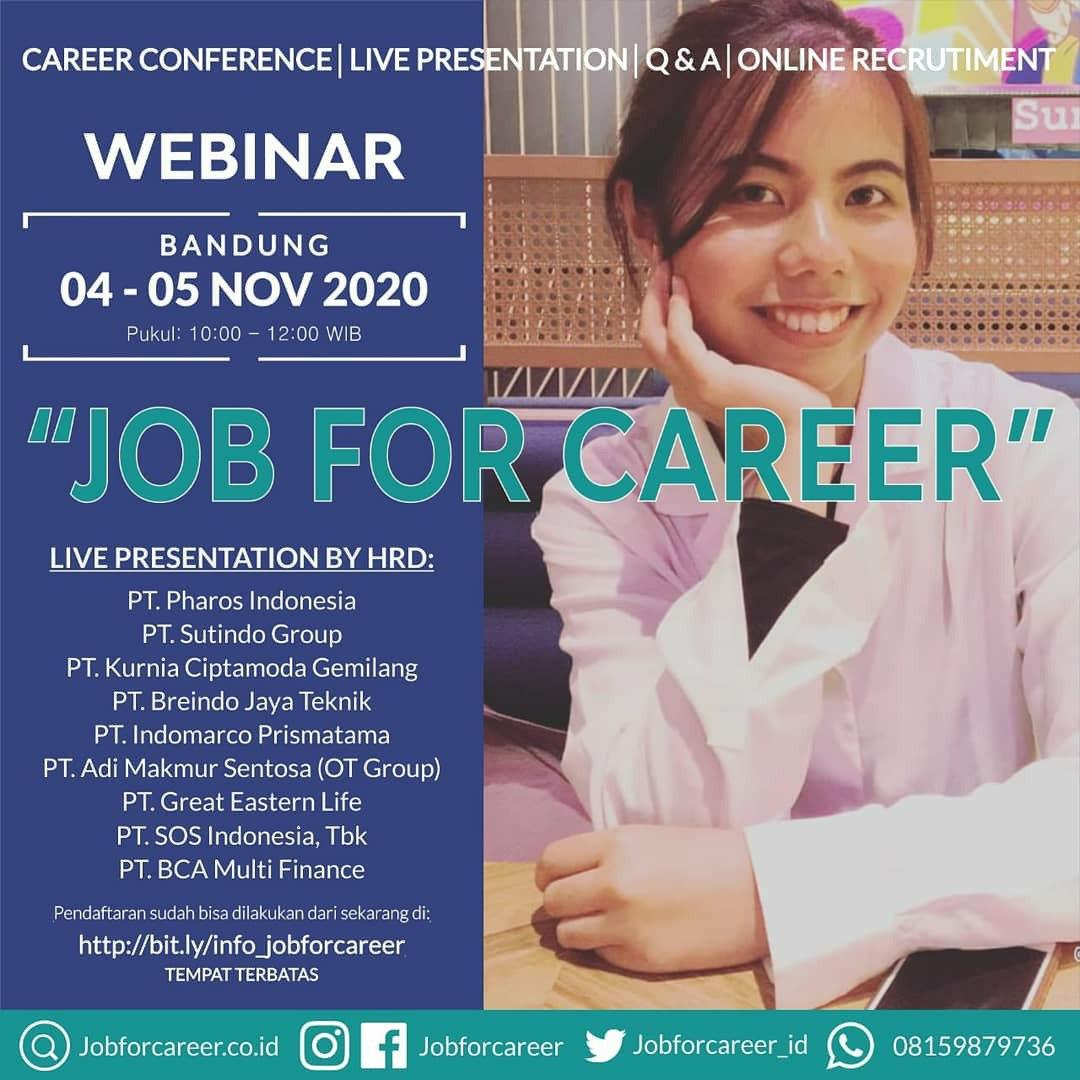 Webinar Job For Career 04 - 05 Bandung November 2020