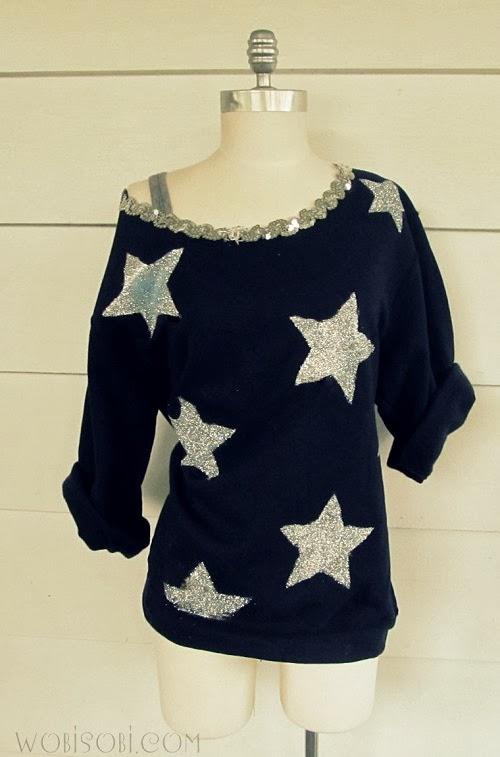 WobiSobi: Be a Star Sweatshirt DIY.