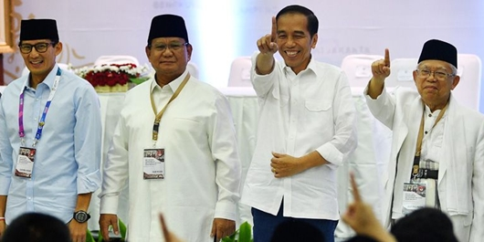 SMRC: Elektabilitas Jokowi-Ma'ruf 57,6% Vs Prabowo-Sandiaga 31,8%