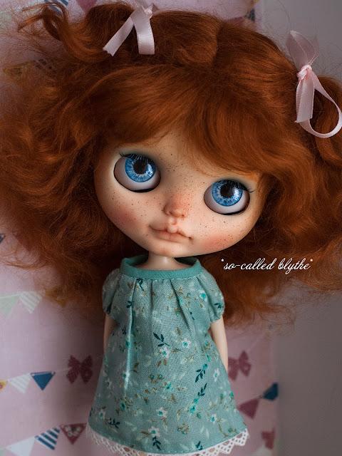 Fiona OOAK custom doll blue eyes
