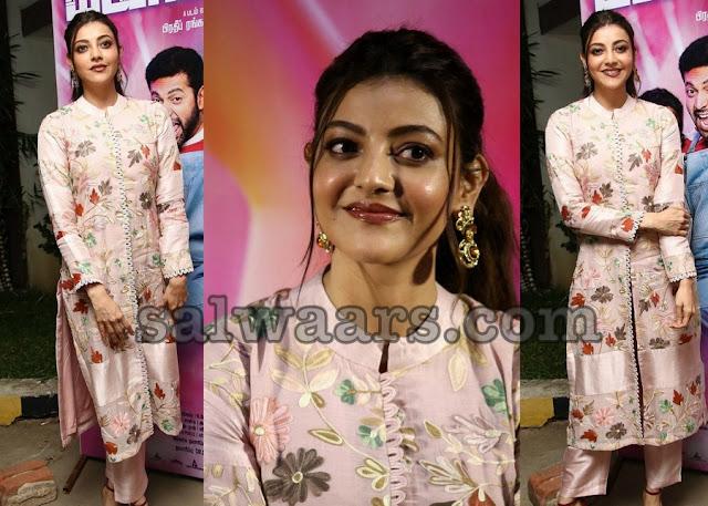 Kajal Agarwal in Floral Printed Salwar Suit